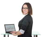 Segretaria con un computer portatile immagine stock libera da diritti