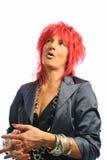 Segretaria della donna con capelli rossi Fotografie Stock