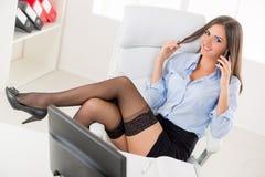 Segretaria sexy Fotografia Stock Libera da Diritti