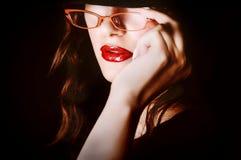 Segretaria/sporgenza sexy fotografie stock