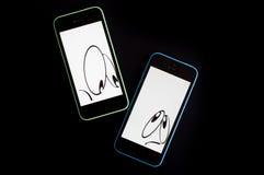 Segretezza di Smartphone violata fotografia stock libera da diritti