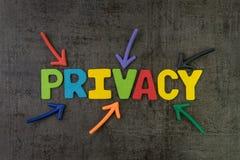 Segretezza, GDPR o concetto generale di regolamento di protezione dei dati, passo fotografia stock