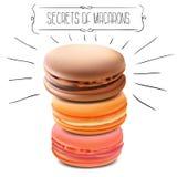 Segreti di Macarons Illustrazione di vettore Immagini Stock