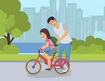 Segreti di riuscito giro della bici per i bambini royalty illustrazione gratis
