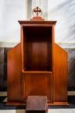 Segreto di una confessione catholicism immagine stock libera da diritti