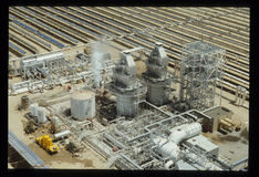 SEGS-II la Californie du sud Edison Solar Steam Power Block Photo stock