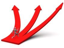 Segua il percorso di destra Immagine Stock