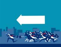 Segua la guida Gente di affari funzionare Illustrazione di vettore di affari di concetto illustrazione vettoriale