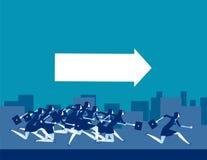 Segua la guida Gente di affari funzionare Illustrazione di vettore di affari di concetto illustrazione di stock