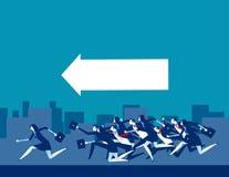 Segua la guida Gente di affari funzionare Illustrazione di vettore di affari di concetto royalty illustrazione gratis