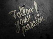 Segua la vostra immagine concettuale di passione Fotografia Stock