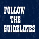 Segua le linee guida Citazione motivazionale ispiratrice Illustrazione di vettore royalty illustrazione gratis