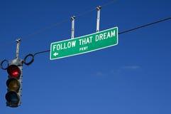 Segua quel sogno Fotografia Stock Libera da Diritti