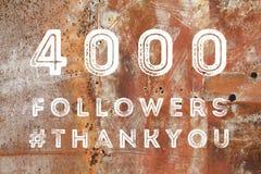 4000 seguaci Fotografia Stock