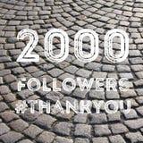 2000 seguaci Fotografia Stock