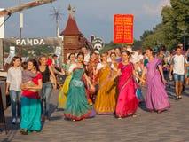 Seguaci di Krishna della lepre Fotografia Stock Libera da Diritti
