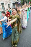 Seguaci di Krishna delle lepri Immagini Stock Libere da Diritti