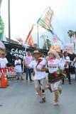 Seguaci e attivista del gruppo politico della PENTOLA fotografie stock libere da diritti