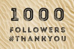 1000 seguaci online Immagini Stock