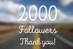 2000 seguidores Fotos de archivo
