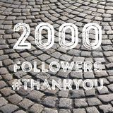 2000 seguidores Fotografía de archivo