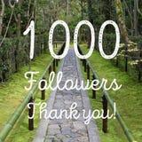 1000 seguidores Foto de archivo