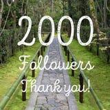 2000 seguidores Imagen de archivo libre de regalías