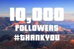 10000 seguidores ilustração do vetor