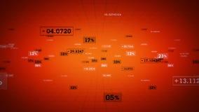 Seguimiento anaranjado de los porcentajes y de los valores stock de ilustración