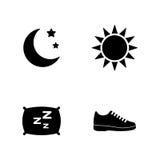 Seguimiento de la actividad Iconos relacionados simples del vector Foto de archivo