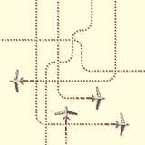 Seguimiento de los aviones Ejemplo plano ilustración del vector