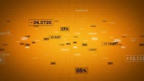 Seguimiento del oro de los porcentajes y de los valores libre illustration