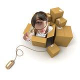 Seguimiento en línea de las mercancías Fotografía de archivo libre de regalías