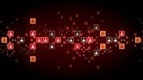 Seguimiento rojo conectado de la gente ilustración del vector