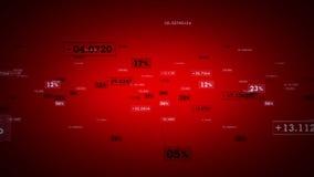 Seguimiento rojo de los porcentajes y de los valores ilustración del vector