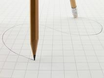 Seguindo lápis Fotos de Stock