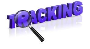 Seguindo o borne da entrega que emite a logística Fotografia de Stock Royalty Free