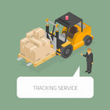Seguindo o conceito do serviço ilustração stock