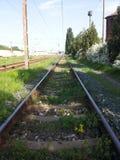 A seguito della ferrovia fotografia stock