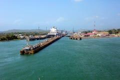 A segunda entrada do canal do Panamá do Oceano Pacífico imagens de stock