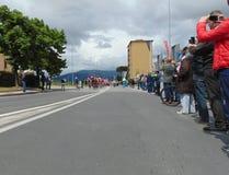 Segunda etapa del giro d ?Italia a la hora del paso a trav?s de Campi Bisenzio fotografía de archivo