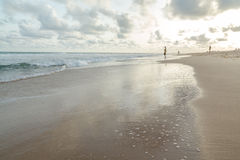 Segunda-feira à tarde na praia de Obama, Cotonou imagens de stock