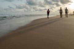 Segunda-feira à tarde na praia de Obama, Cotonou fotos de stock