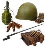 Segunda guerra mundial ajustada com arma Foto de Stock
