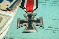 Segunda guerra mundial alemão da cruz do ferro Fotos de Stock