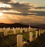 Segunda Guerra Mundial del cementerio Foto de archivo libre de regalías