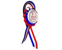 Segunda medalla premiada girada Fotos de archivo