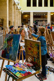 A segunda prata Todo-ucraniana E da competição da pintura do ` dos estudantes Imagem de Stock Royalty Free