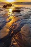 Segundo alargamento de Sun da praia Fotos de Stock