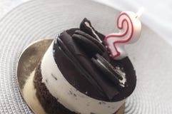 Segundo bolo do aniversário Foto de Stock